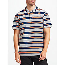 Buy John Lewis Double Stripe Polo Shirt, Navy Online at johnlewis.com