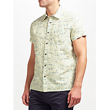 Buy JOHN LEWIS & Co. Furaw Ku Print Short Sleeve Shirt, Off White Online at johnlewis.com
