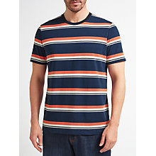 Buy John Lewis Slub Stripe Crew Neck T-Shirt, Navy Online at johnlewis.com