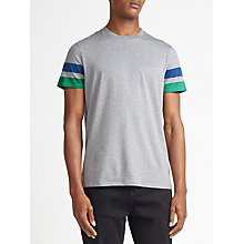 Buy Kin by John Lewis Arm Stripe Cotton T-Shirt, Grey Online at johnlewis.com