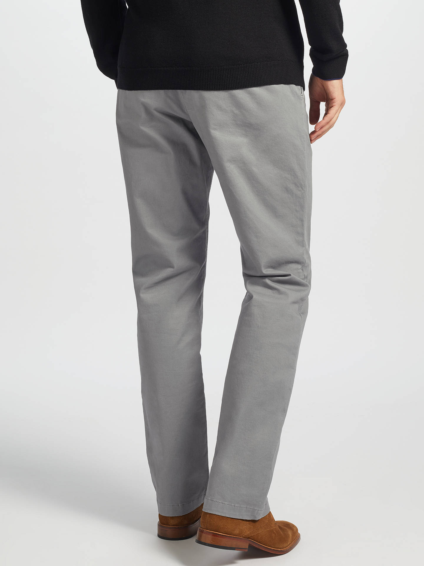 Buy John Lewis & Partners Essential Chinos, Sage, 32S Online at johnlewis.com
