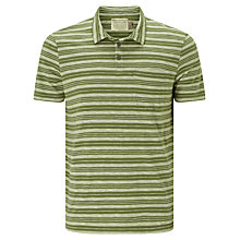 Buy JOHN LEWIS & Co. Tea Stained Stripe Polo Shirt, Khaki Online at johnlewis.com