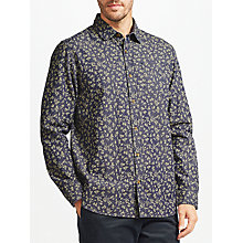 Buy John Lewis Floral Print Shirt, Navy Online at johnlewis.com