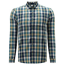 Buy Kin by John Lewis Crepe Check Shirt, Green Online at johnlewis.com