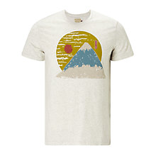 Buy JOHN LEWIS & Co. Mountain Print T-Shirt, Ecru Online at johnlewis.com