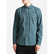 Buy Kin by John Lewis Mini Check Shirt, Navy Online at johnlewis.com