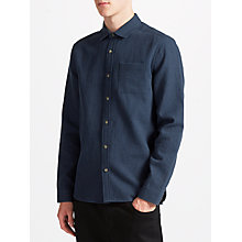 Buy Kin by John Lewis Pindot Shirt, Navy Online at johnlewis.com