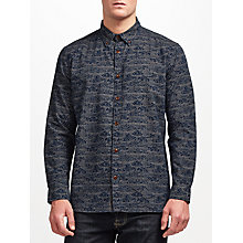 Buy JOHN LEWIS & Co. Nami Print Shirt, Indigo Online at johnlewis.com