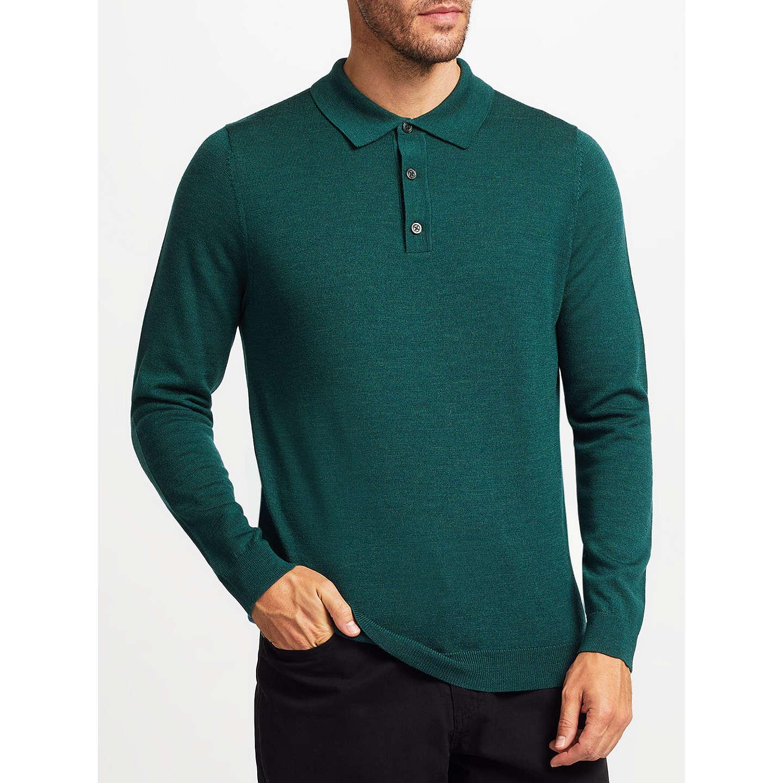 John lewis merino wool long sleeve polo shirt at john lewis for Long sleeve wool polo shirts