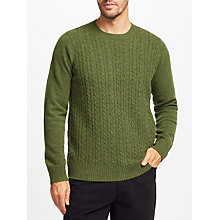 Buy John Lewis Cable Knit Crew Jumper Online at johnlewis.com