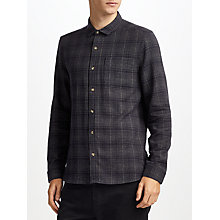 Buy Kin by John Lewis Brushed Ombre Check Shirt, Navy Online at johnlewis.com