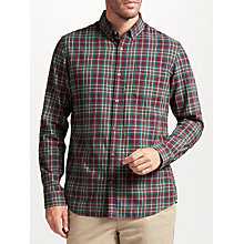 Buy John Lewis Smart Multi Check Soft Flannel Shirt, Wine Online at johnlewis.com