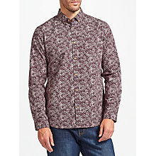 Buy John Lewis Smarter Flower Print Shirt, Red Online at johnlewis.com