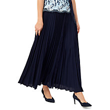 Buy Jacques Vert Maxi Plisse Lace Insert Skirt, Navy Online at johnlewis.com