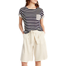 Buy White Stuff Tilly Ticking Pure Linen Tee, Navy Stripe Online at johnlewis.com