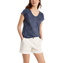 Buy White Stuff Elsa Shirring Jersey T-Shirt, Navy Online at johnlewis.com