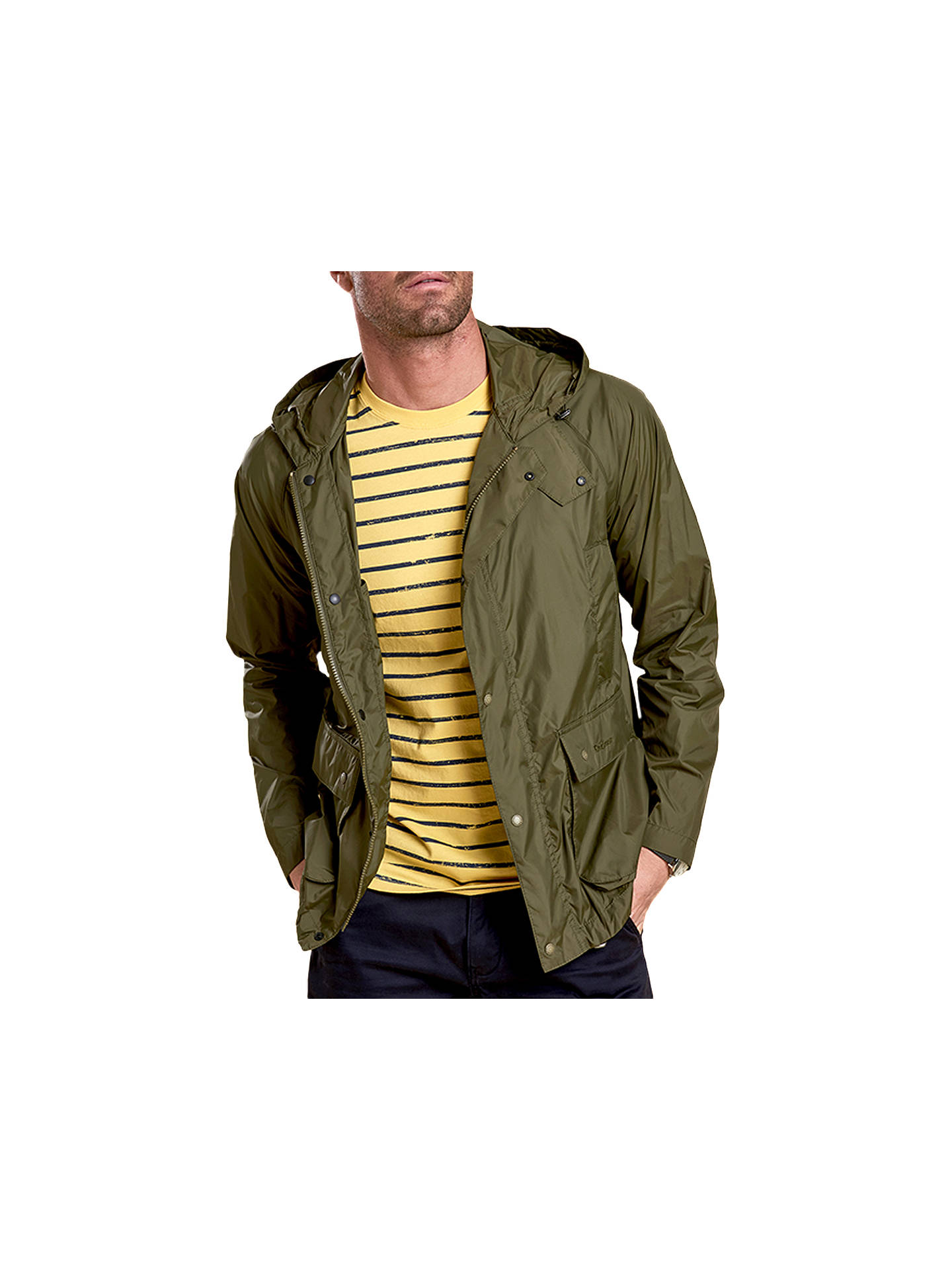 21a8bb38 Buy Barbour Croston Casual Jacket, Fern, S Online at johnlewis.com ...