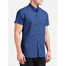 Buy Barbour Lymington Short Sleeve Shirt, Navy Online at johnlewis.com