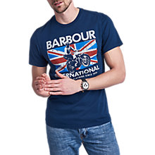 Buy Barbour International Jump T-Shirt, Blue Online at johnlewis.com