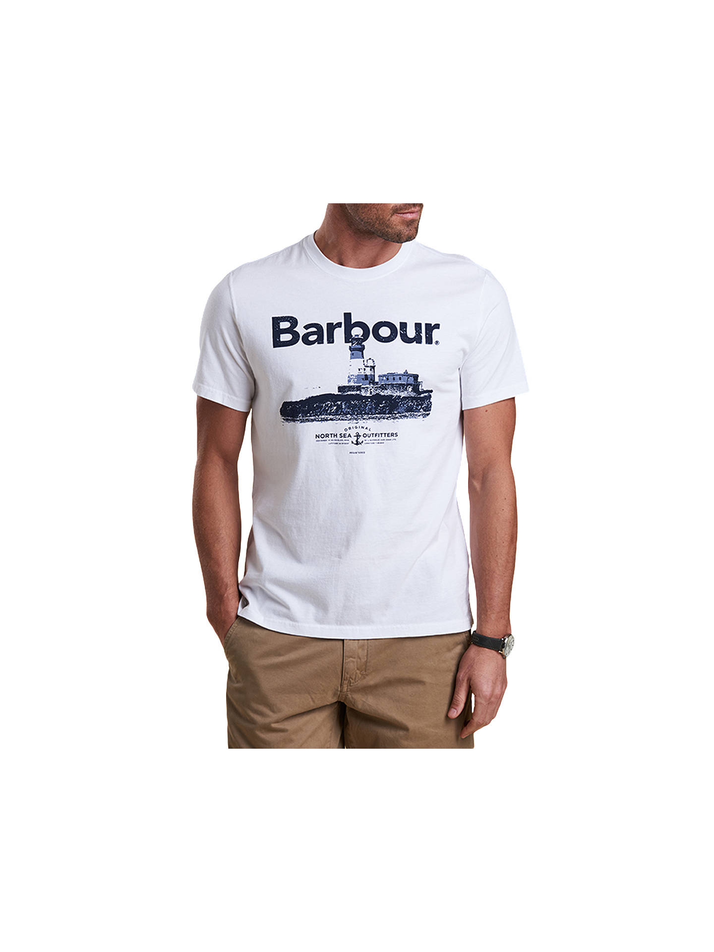 4fa3d73004 Buy Barbour Padstow Crew Neck T-Shirt, White, S Online at johnlewis.