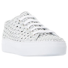 Buy Dune Black Ellsa Flatform Trainers, Silver Online at johnlewis.com