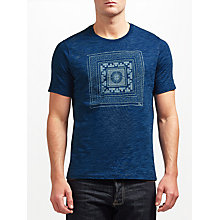 Buy JOHN LEWIS & Co. Printed T-Shirt, Indigo Online at johnlewis.com