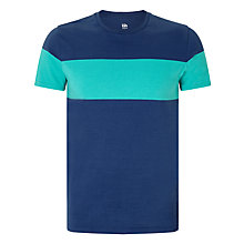 Buy Kin by John Lewis Block Chest Stripe T-Shirt, Blue Online at johnlewis.com