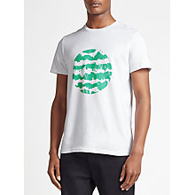 Buy Kin by John Lewis Reflection Print Disc T-Shirt, White/Green Online at johnlewis.com