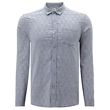 Buy Kin by John Lewis Check Square Weave Shirt, Blue Online at johnlewis.com