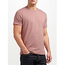 Buy JOHN LEWIS & Co. Cotton Marl T-Shirt, Pink Online at johnlewis.com