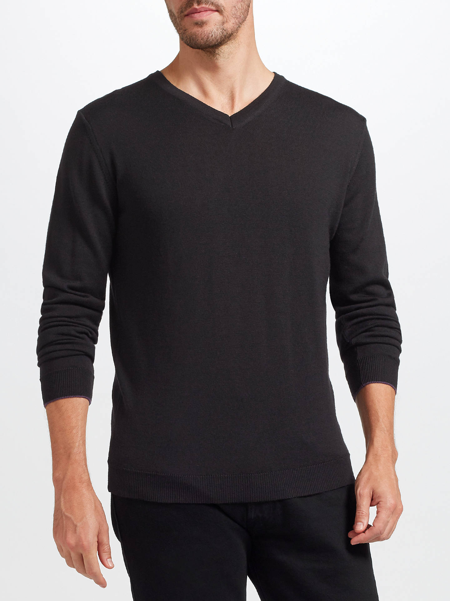 13b91af4bb3 John Lewis & Partners Made in Italy Merino Wool V-Neck Jumper at ...