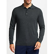 Buy John Lewis Merino Wool Long Sleeve Polo Shirt Online at johnlewis.com
