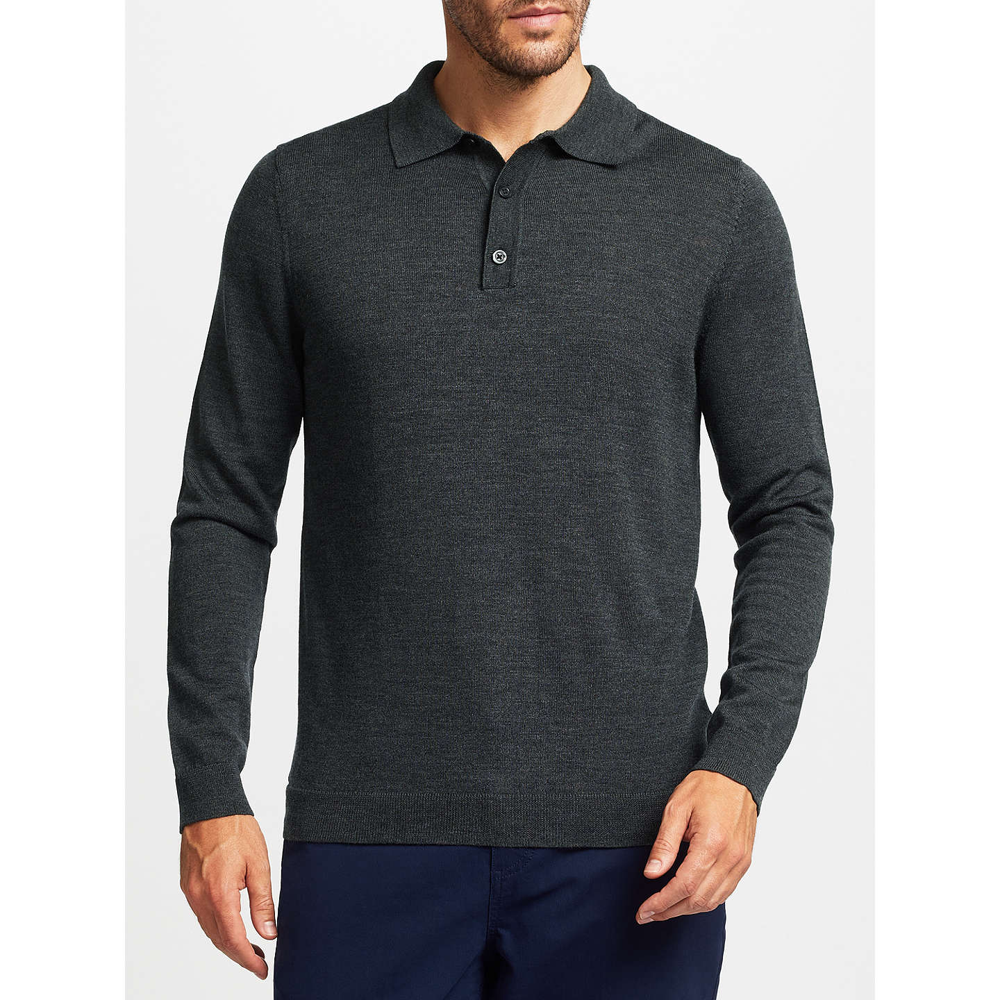 John lewis merino wool long sleeve polo shirt at john lewis for Merino wool shirts for travel