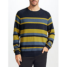 Buy John Lewis Striped Raglan Jumper, Navy Online at johnlewis.com