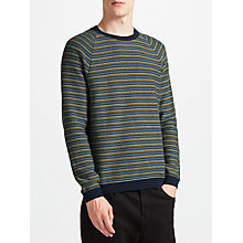 Buy Kin by John Lewis Birdseye Stripe Jumper, Blue Online at johnlewis.com