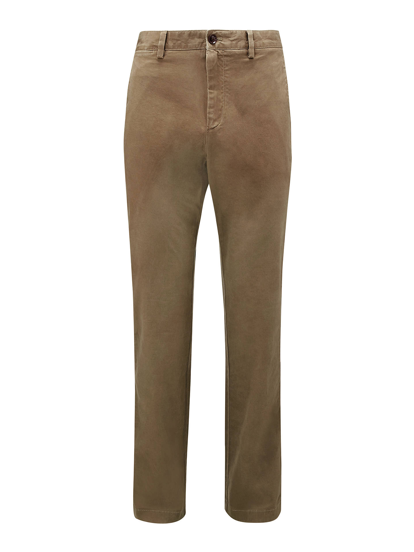 Buy John Lewis & Partners Essential Straight Cut Chinos, Taupe, 38S Online at johnlewis.com