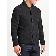 Buy JOHN LEWIS & Co. Boiled Wool Cardigan, Grey Online at johnlewis.com