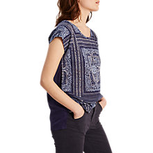 Buy White Stuff Patch Scarf Print T-Shirt, Navy Online at johnlewis.com