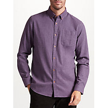 Buy John Lewis Melange Soft Flannel Shirt, Purple Online at johnlewis.com