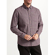 Buy John Lewis Brushed Gingham Shirt, Wine Online at johnlewis.com