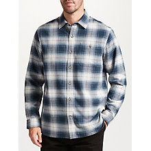 Buy John Lewis Jeans Check Soft Flannel Shirt, Blue Online at johnlewis.com
