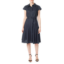 Buy Precis Petite Demi Shirt Dress, Navy Online at johnlewis.com