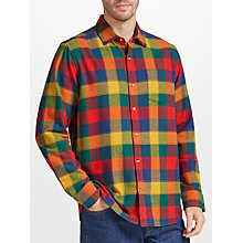 Buy John Lewis Winter Bright Buffalo Check Soft Flannel Shirt, Multi Online at johnlewis.com
