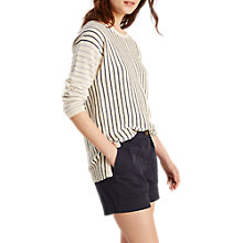 Buy White Stuff Bay Stripe Jumper, Natural Online at johnlewis.com