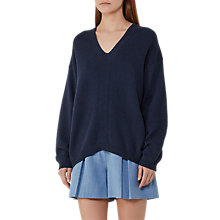 Buy Reiss Rae V-Neck Jumper, Night Navy Online at johnlewis.com