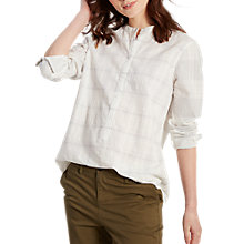 Buy White Stuff Moss Check Shirt, Material Cream Check Online at johnlewis.com