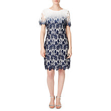 Buy Precis Petite Connie Lace Shift Dress, Blue/Multi Online at johnlewis.com