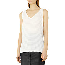 Buy Reiss Lilienne Textured Stripe Knitted Tank Top Online at johnlewis.com