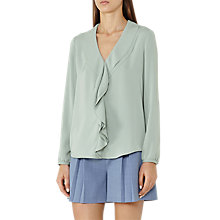 Buy Reiss Lolita Ruffle Front Blouse Online at johnlewis.com
