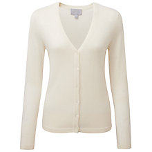 Buy Pure Collection Cashmere V-Neck Cardigan, Soft White Online at johnlewis.com